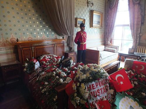 A szoba, ahol Atatürk meghalt.