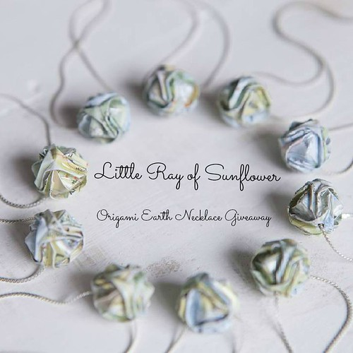 Origami Earth Necklace Giveaway