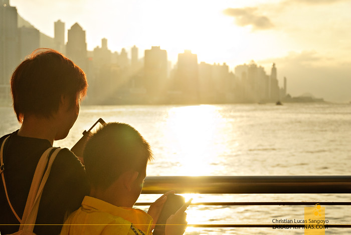 Victoria Harbour Hong Kong Sunset
