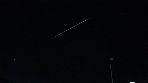 VMJ spans Virgo - meteor composite