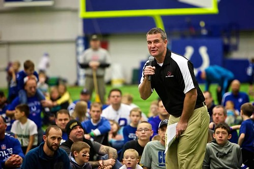 Darrin speaking at an All Pro Dad event