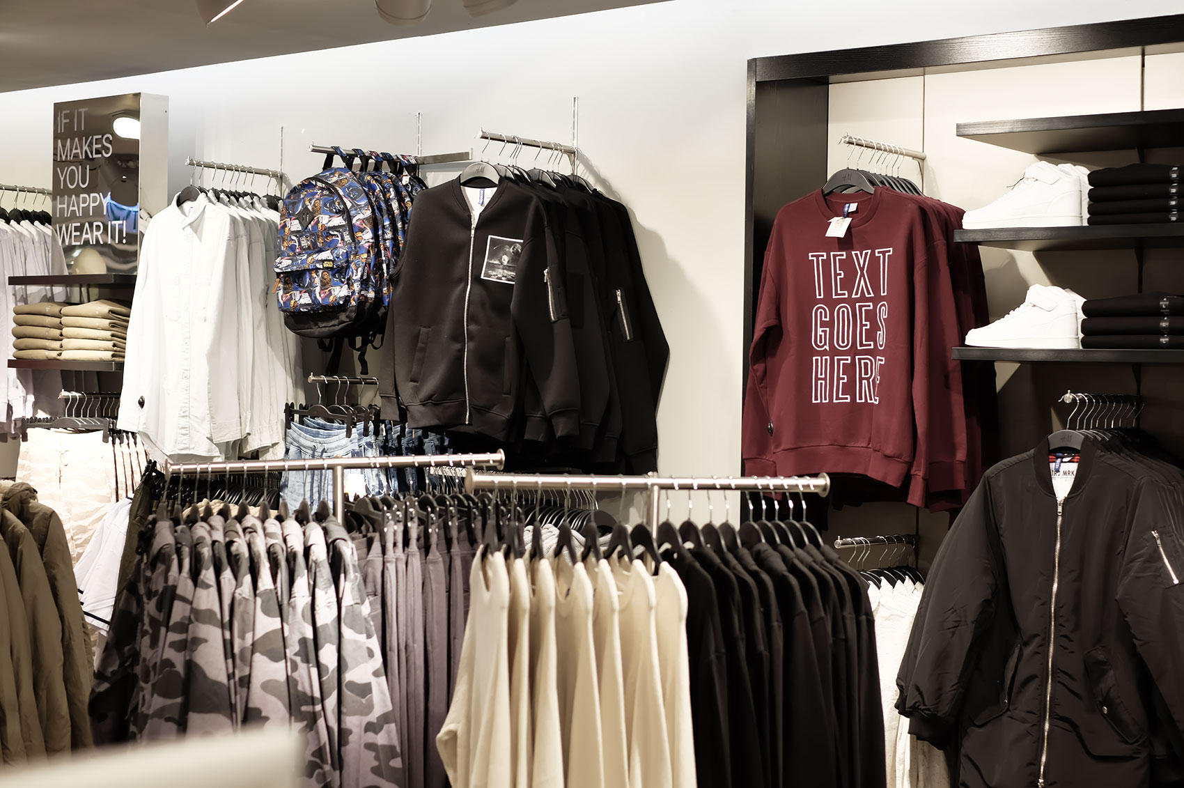 H and m clothes store
