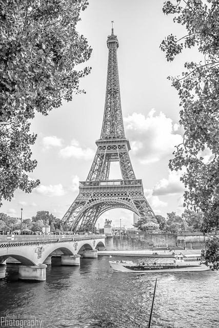 Eiffel Tower by the seine river