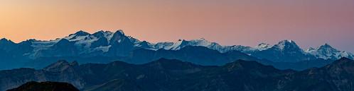 pink orange mountain alps sunrise dawn schweiz switzerland peak glacier berge dämmerung alpen gletscher sonnenaufgang eiger bernese jungfrau gebirge foothill mönch morgenrot nordwand schreckhorn rothorn rosenlaui voralpen zentralschweiz bergkette glaubenberg glaubenbergpass rickhubel