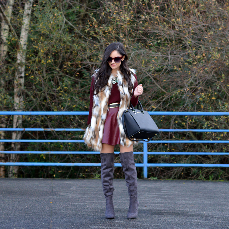 zara_ootd_highboots_burdeos_burgundy_vest_michael kors_08
