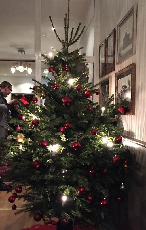 Julgran på Waxholms Hotel