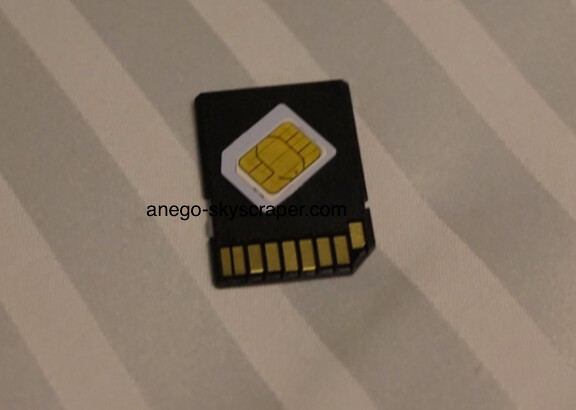 ZenFone用にアダプター装着