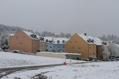Schnee in Herschfeld am 3.1.2016