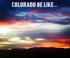 Blessed to live in such a beautiful place! This was taken from my front window with an I-phone 😂 MC #Colorado #ColoradoLife