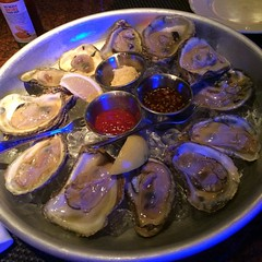 Oysters... first timer here. It was weird at first but I like it overall!