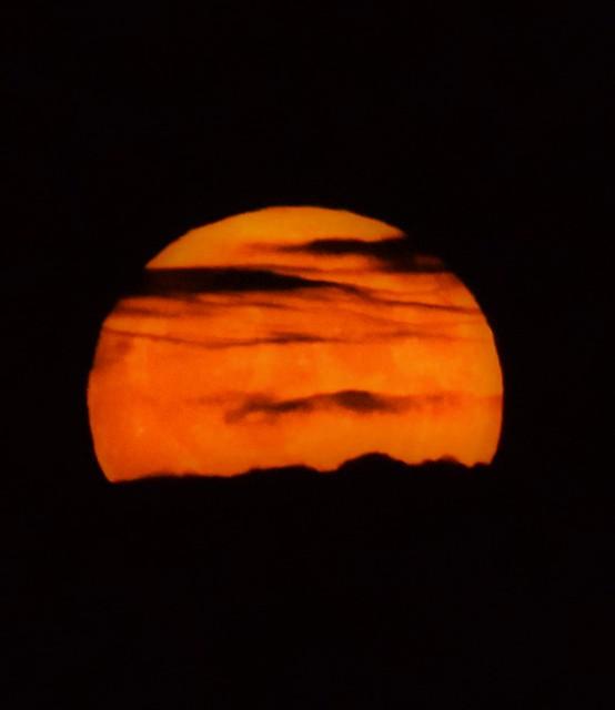 Rising Super Moon