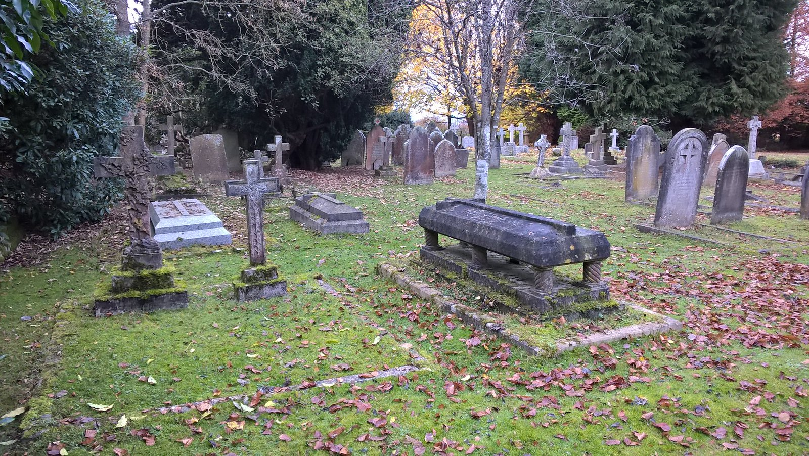 The Graveyard Shift Burial place of a member of the clergy, church of St Alban, Sussex