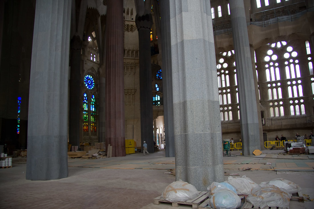 Construction Inside Sagrada Familia