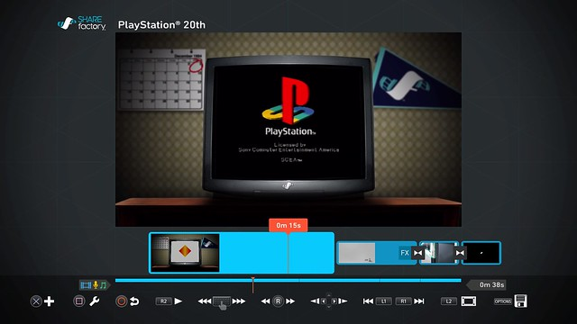 ShareFactory PlayStation 20th Anniversary theme