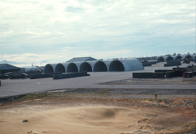 MAG-16 by Wally Beddoe - Wonder Arch aircraft shelters at Da nang Air Base