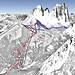 Mapa Val di Fassa - Col Rodella