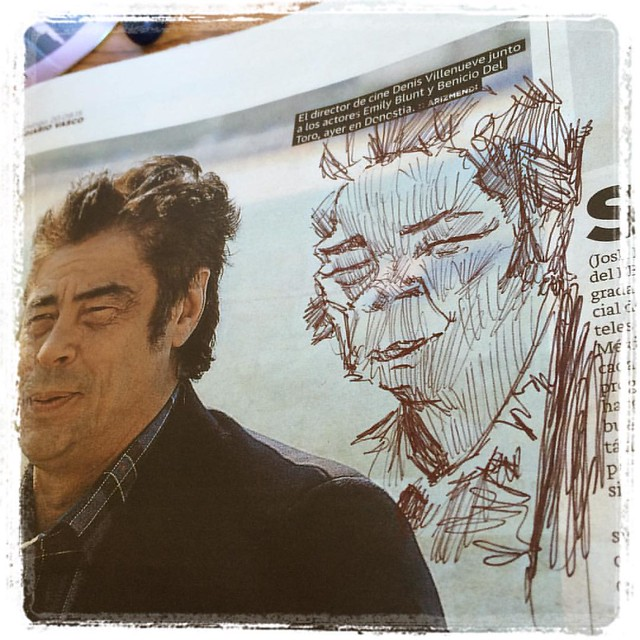 #newspaper #caricature #ballpointpen