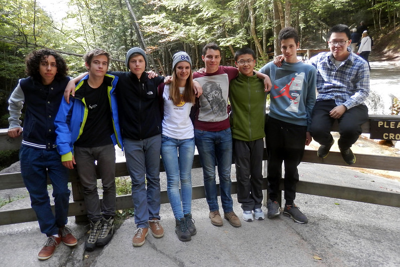 International Students took a trip north to view the beginning of our beautiful  fall foliage. Students are: Hunab (Mexico), Kiril (Austria), Johann (Switzerland), Rebekka (Germany), Derek (Mexico), Erik (China), Nicholas (Germany), Kevin (China)
