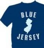 BLUE JERSEY LOGO TEE