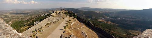 panorama tower castle landscape marvão