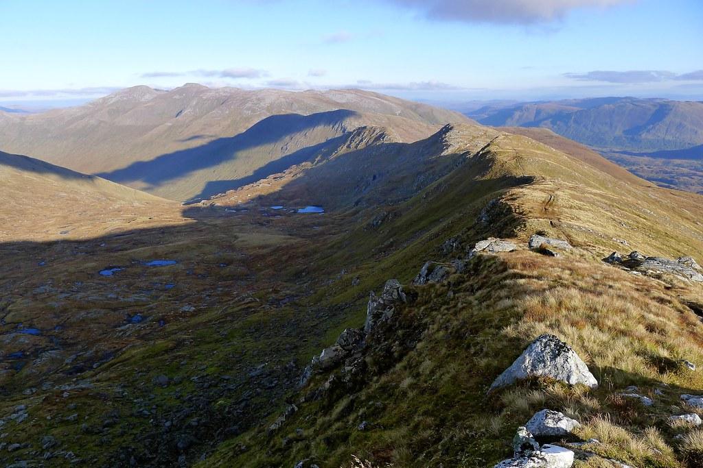 Sgùrr nan Ceathreamhnan's east ridge