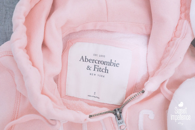 Abercrombie & Fitch hoodie in baby pink.