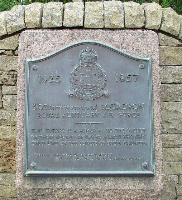 City of Edinburgh Squadron War Memorial Plaque