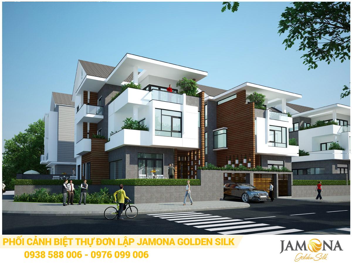 Thiết kế phối cảnh biệt thự đơn lập Jamona Golden Silk quận 7