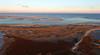 Lighthouse Beach at Sunset Aerial