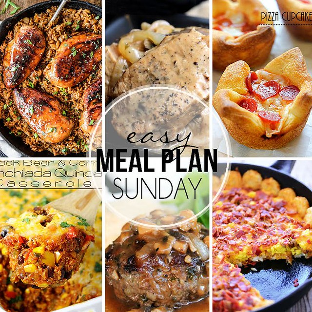 Week 24. Collaborative weekly meal planning. 9 bloggers. 6 dinner ideas, one weekend breakfast plus 2 desserts every single week equals one heck of a delicious menu!