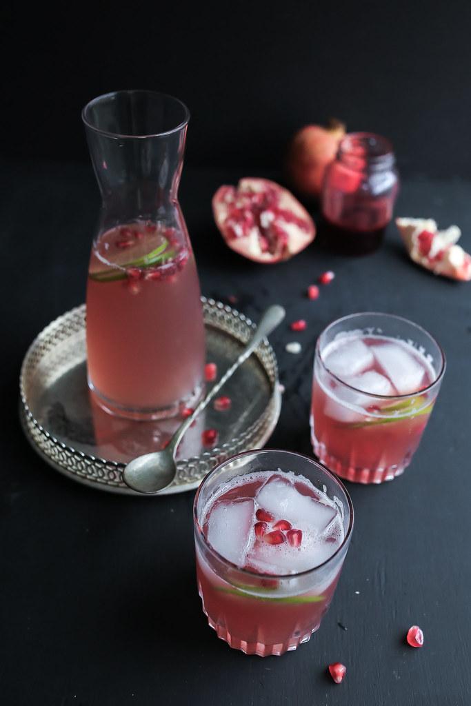 Pomegrante Syrup Soda