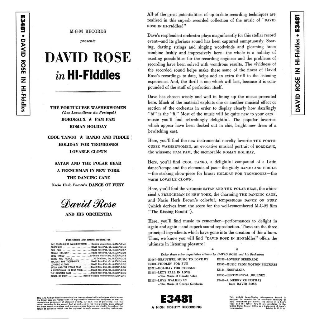 David Rose - In Hi-Fiddles b