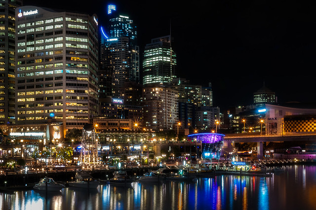 Darling Harbour by Night - Sydney
