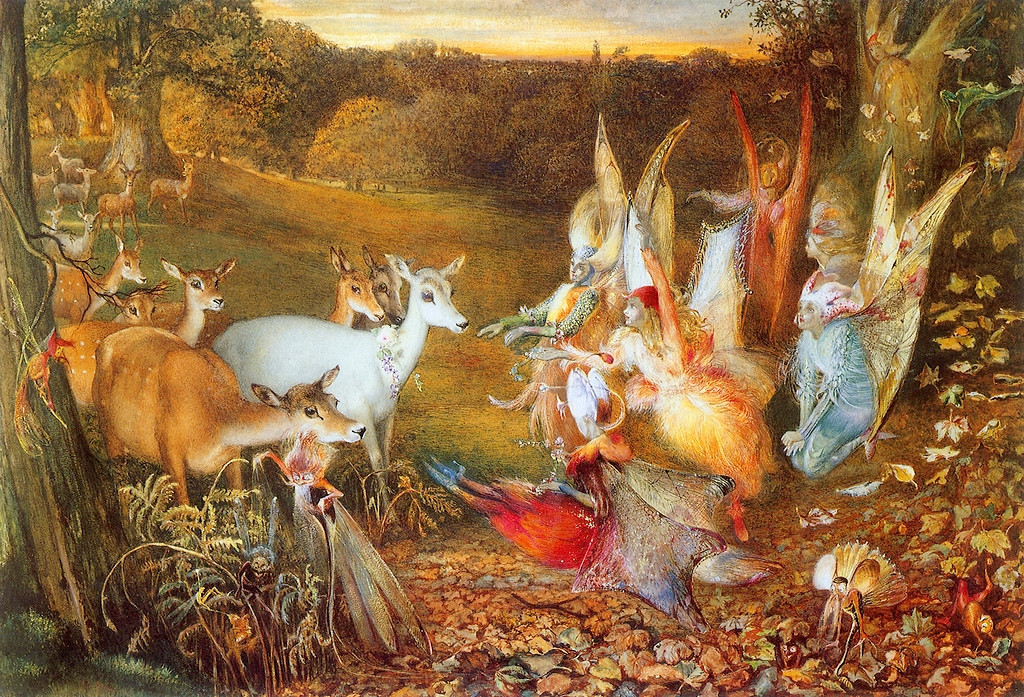 The Enchanted Forest by John Anster Christian Fitzgerald, (1819 - 1906)