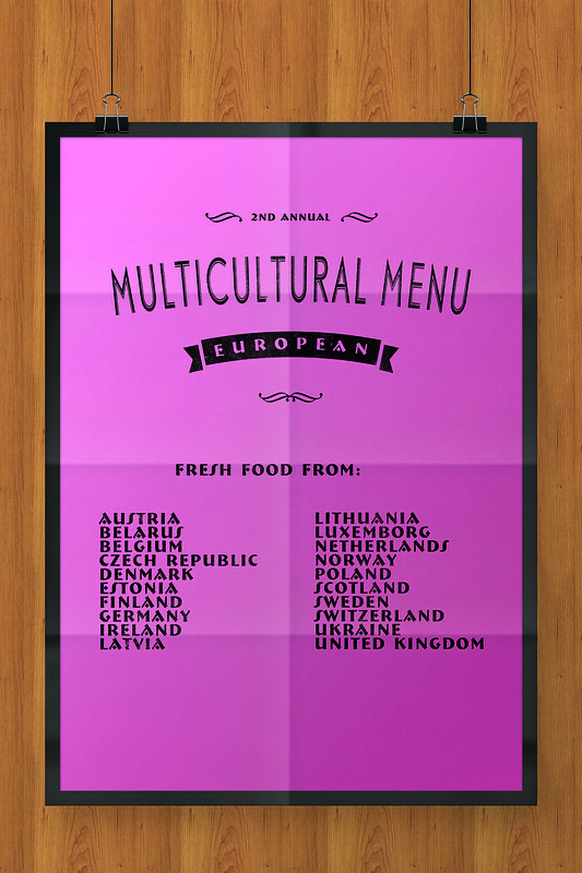 Multicultural Menu European