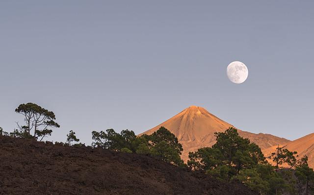 Teide y luna desde Samara