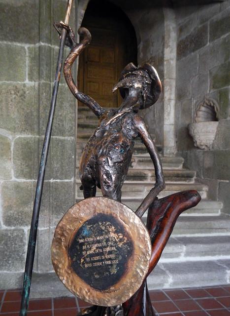 A bronze sculpture of Don Quixote