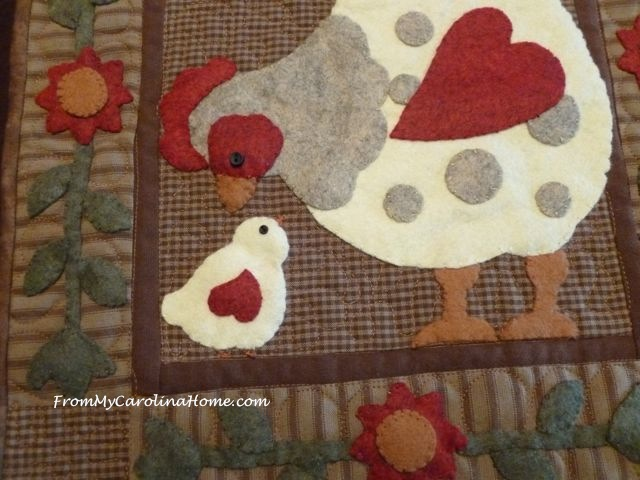 Spotty Hen Wool Work Kit