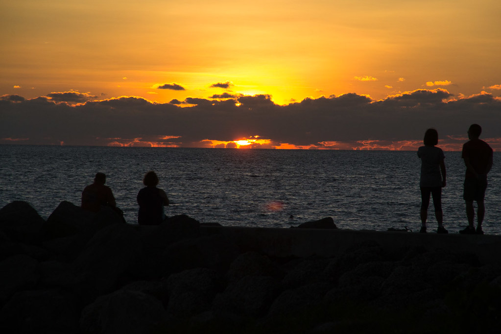 Sunset at Fort Zachary Taylor State Park in Key West