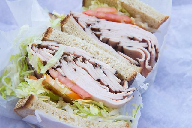 Turkey pastrami sandwich, Tasty Deli