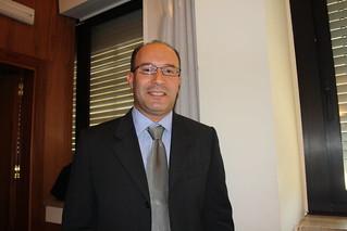 Casamassima- Il vice Andrea Palmieri in 'vacanza' con il suo inseparabile computer