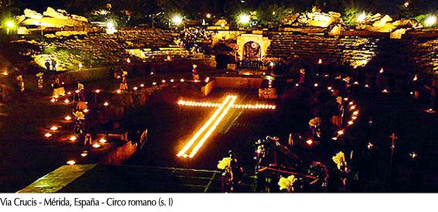 Via crucis - Mérida, España, Circo romano (s. I)