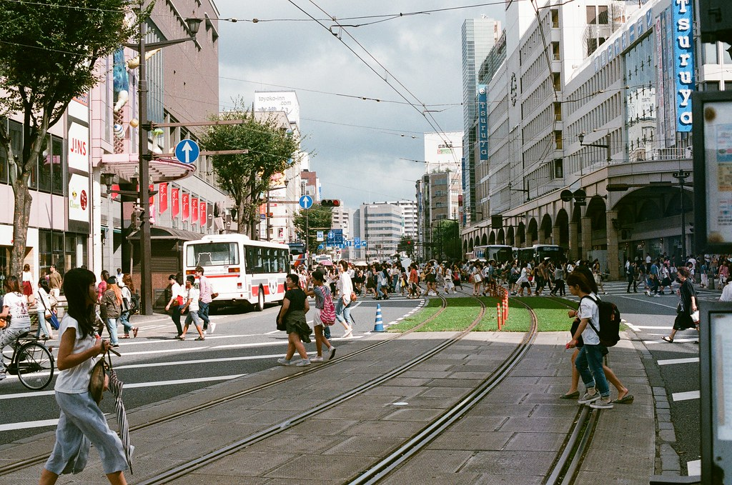 通町 熊本 Kumamoto 2015/09/06 我走回到通町  Nikon FM2 / 50mm AGFA VISTAPlus ISO400 Photo by Toomore