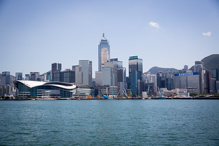 Hong Kong island from Victoria Harbour
