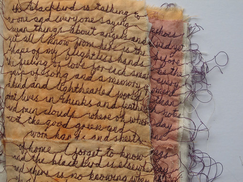 'towards a poem' - stitched book
