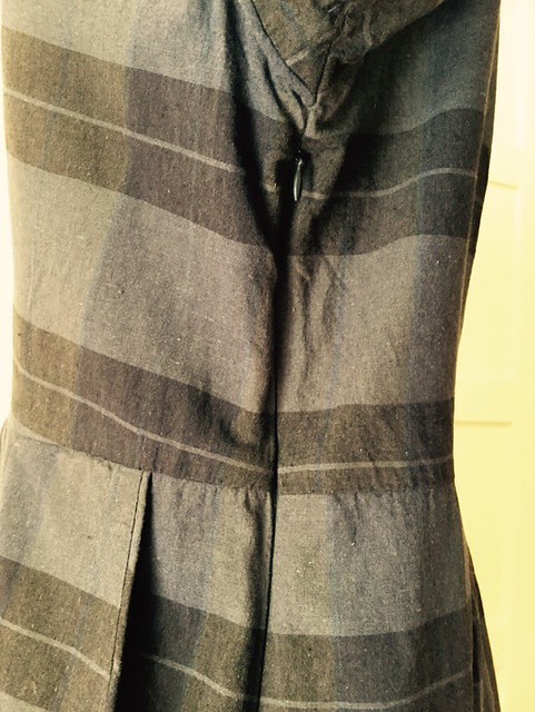 plaid dress side seam