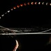 The full arch of the perigee lunar eclipse over Bristol by Hannahbella Nel