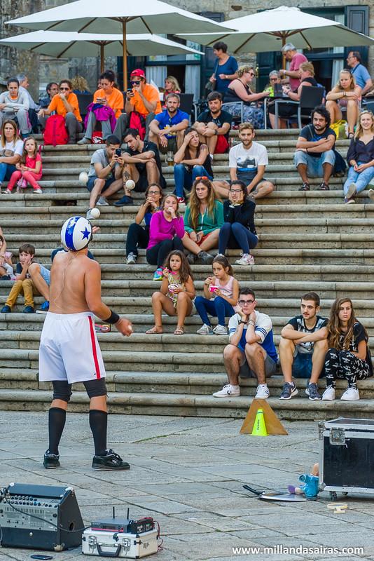 Actuación en la Plaza da Quintana