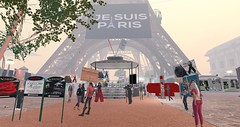 The day after the Paris attacks, Second Life remembers at Paris Eiffel