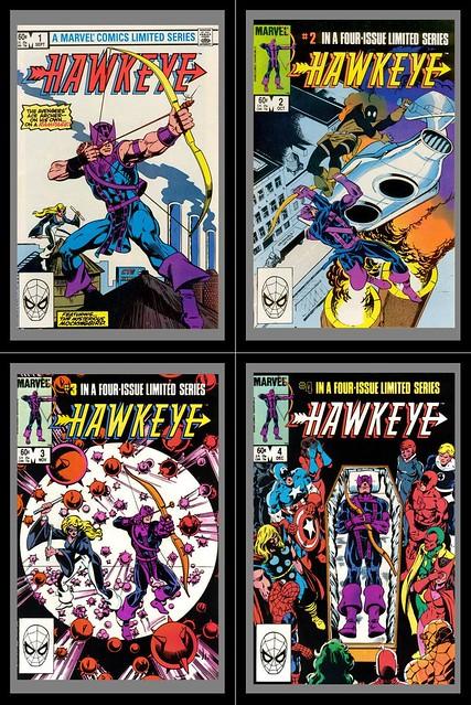 Hawkeye (1983) 1-4, Covers